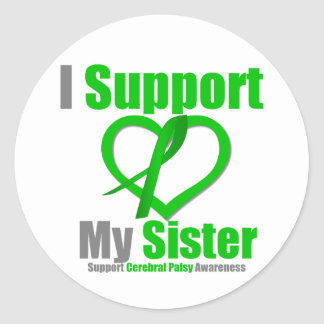 Cerebral Palsy I Support My Sister Stickers