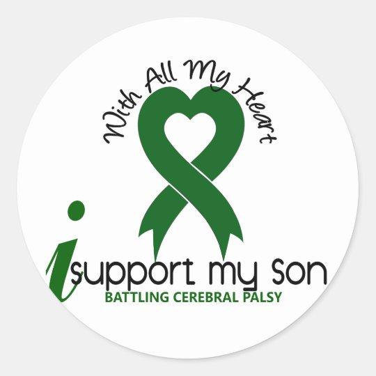 Cerebral Palsy I Support My Son Classic Round Sticker