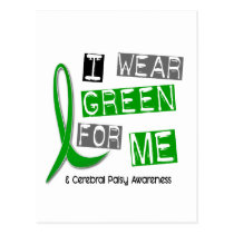 Cerebral Palsy I Wear Green For ME 37 Postcard