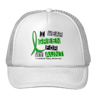 Cerebral Palsy I Wear Green For My Aunt 37 Trucker Hat