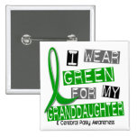 Cerebral Palsy I Wear Green For My Granddaughter 3 Pinback Buttons