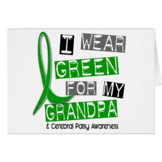 Cerebral Palsy I Wear Green For My Grandpa 37 Card
