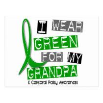 Cerebral Palsy I Wear Green For My Grandpa 37 Postcard