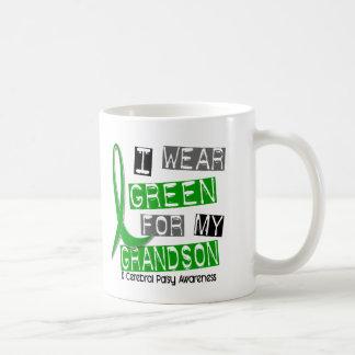 Cerebral Palsy I Wear Green For My Grandson 37 Coffee Mug