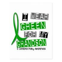 Cerebral Palsy I Wear Green For My Grandson 37 Postcard