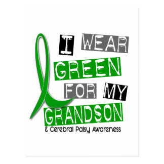 Cerebral Palsy I Wear Green For My Grandson 37 Postcard