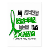 Cerebral Palsy I Wear Green For My Mommy 37 Postcard