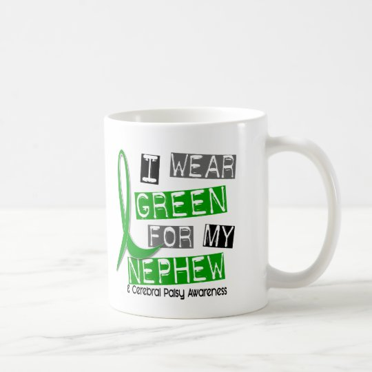 Cerebral Palsy I Wear Green For My Nephew 37 Coffee Mug