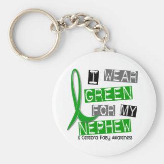 Cerebral Palsy I Wear Green For My Nephew 37 Keychain