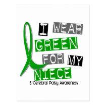 Cerebral Palsy I Wear Green For My Niece 37 Postcard