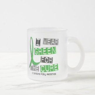 Cerebral Palsy I Wear Green For The Cure 37 Frosted Glass Coffee Mug