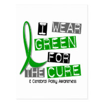 Cerebral Palsy I Wear Green For The Cure 37 Postcard