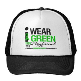 Cerebral Palsy I Wear Green Ribbon Boyfriend Trucker Hat