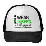 Cerebral Palsy I Wear Green Ribbon For Awareness Trucker Hat
