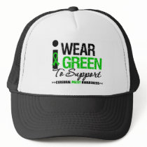 Cerebral Palsy I Wear Green Ribbon For Awareness Trucker Hat