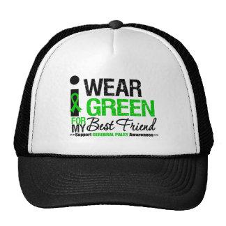 Cerebral Palsy I Wear Green Ribbon For Best Friend Trucker Hat