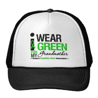 Cerebral Palsy I Wear Green Ribbon For Grandmother Trucker Hat