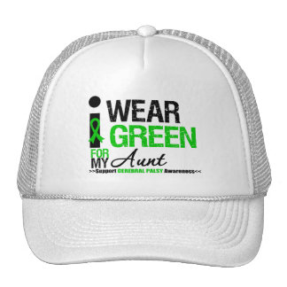 Cerebral Palsy I Wear Green Ribbon For My Aunt Trucker Hat