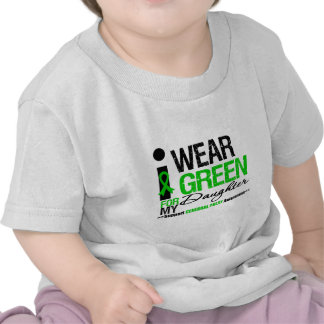Cerebral Palsy I Wear Green Ribbon For My Daughter Tee Shirt