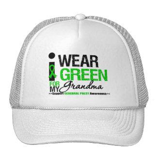 Cerebral Palsy I Wear Green Ribbon For My Grandma Trucker Hat