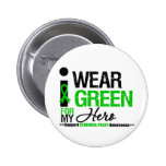 Cerebral Palsy I Wear Green Ribbon For My Hero Buttons