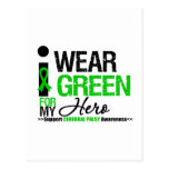 Cerebral Palsy I Wear Green Ribbon For My Hero Postcards