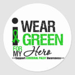 Cerebral Palsy I Wear Green Ribbon For My Hero Stickers