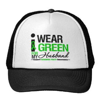 Cerebral Palsy I Wear Green Ribbon For My Husband Trucker Hat