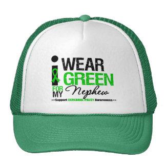 Cerebral Palsy I Wear Green Ribbon For My Nephew Trucker Hat