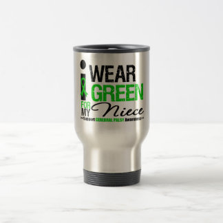 Cerebral Palsy I Wear Green Ribbon For My Niece 15 Oz Stainless Steel Travel Mug
