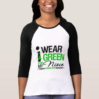 Cerebral Palsy I Wear Green Ribbon For My Niece Shirt