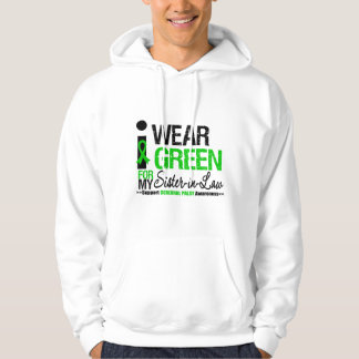 Cerebral Palsy I Wear Green Ribbon For My Sister-i Hooded Sweatshirt