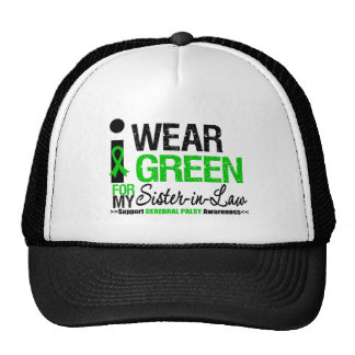 Cerebral Palsy I Wear Green Ribbon For My Sister-i Trucker Hat