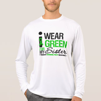 Cerebral Palsy I Wear Green Ribbon For My Sister Shirt