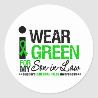Cerebral Palsy I Wear Green Ribbon For My Son-in-L Sticker