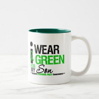 Cerebral Palsy I Wear Green Ribbon For My Son Coffee Mug