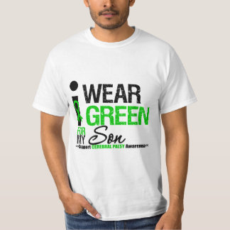 Cerebral Palsy I Wear Green Ribbon For My Son T-Shirt
