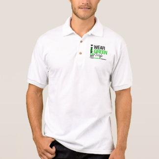 Cerebral Palsy I Wear Green Ribbon For My Wife Polo Shirts