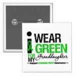 Cerebral Palsy I Wear Green Ribbon Granddaughter Pinback Button