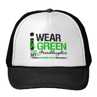 Cerebral Palsy I Wear Green Ribbon Granddaughter Trucker Hat