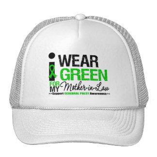 Cerebral Palsy I Wear Green Ribbon Mother-in-Law Trucker Hat