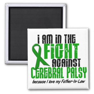 Cerebral Palsy In The Fight For My Father-In-Law 1 2 Inch Square Magnet