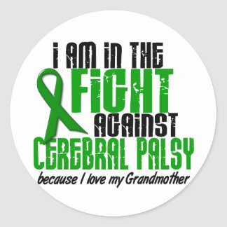 Cerebral Palsy In The Fight For My Grandmother 1 Round Sticker