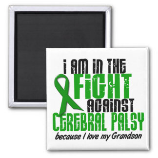 Cerebral Palsy In The Fight For My Grandson 1 2 Inch Square Magnet