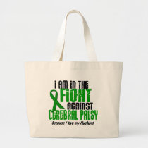 Cerebral Palsy In The Fight For My Husband 1 Large Tote Bag