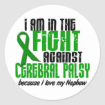 Cerebral Palsy In The Fight For My Nephew 1 Round Sticker