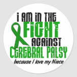 Cerebral Palsy In The Fight For My Niece 1 Round Sticker