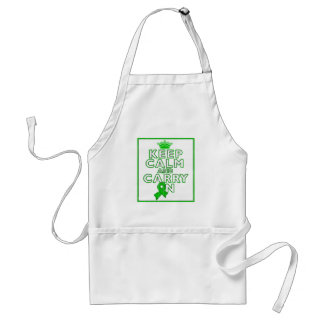 Cerebral Palsy Keep Calm and Carry ON Adult Apron