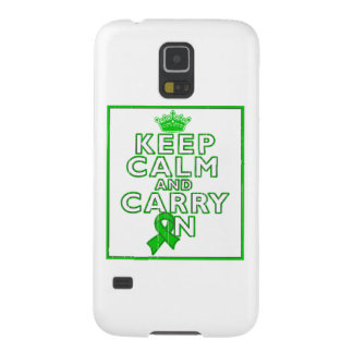 Cerebral Palsy Keep Calm and Carry ON Galaxy S5 Cases