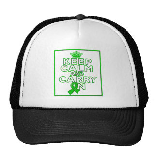 Cerebral Palsy Keep Calm and Carry ON Trucker Hat